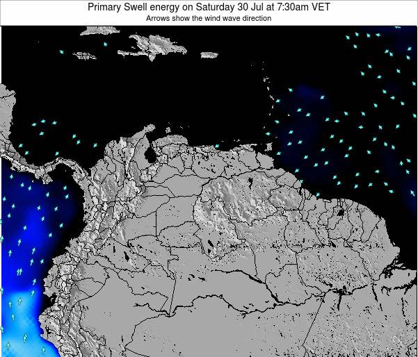 Venezuela Primary Swell energy on Wednesday 02 May at 7:30pm VET map