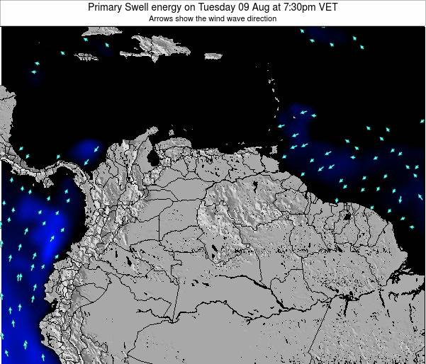 Venezuela Primary Swell energy on Friday 01 Aug at 7:30am VET