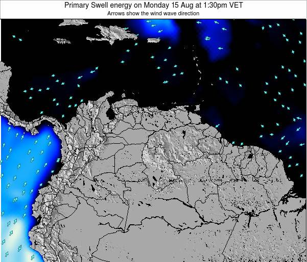Venezuela Primary Swell energy on Friday 03 Apr at 7:30pm VET