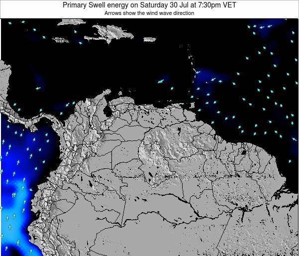 Venezuela Primary Swell energy on Friday 19 Feb at 1:30pm VET