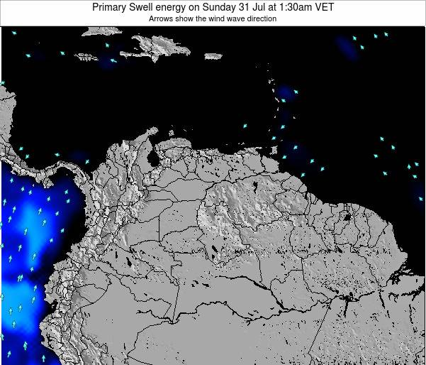 Venezuela Primary Swell energy on Wednesday 29 Oct at 1:30am VET