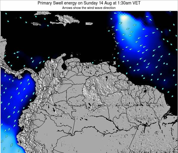 Venezuela Primary Swell energy on Wednesday 29 May at 7:30am VET