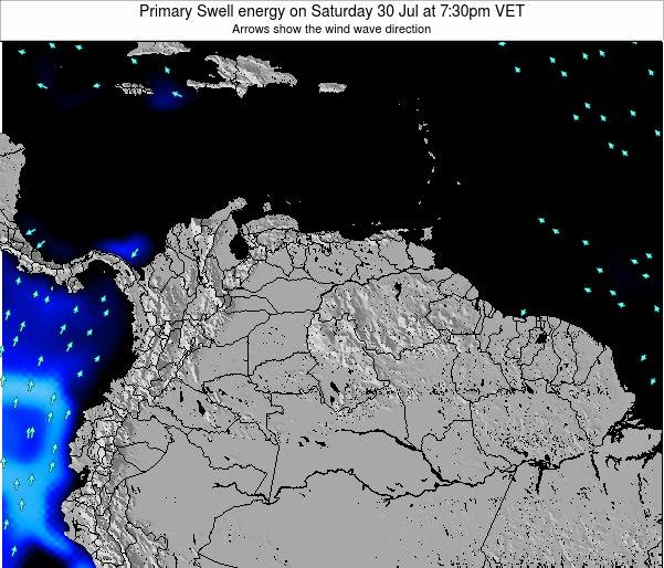 Venezuela Primary Swell energy on Sunday 26 May at 7:30am VET