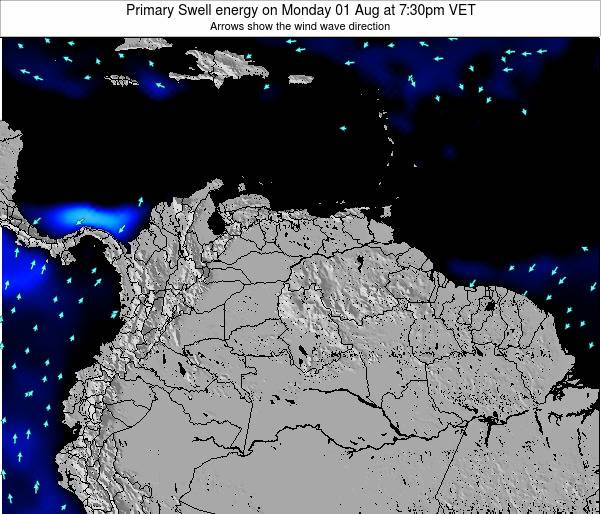 Venezuela Primary Swell energy on Friday 06 Dec at 7:30am VET