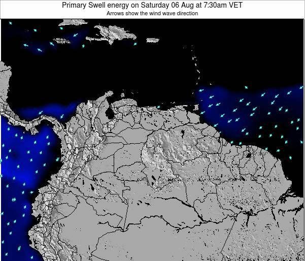 Venezuela Primary Swell energy on Tuesday 11 Mar at 1:30am VET
