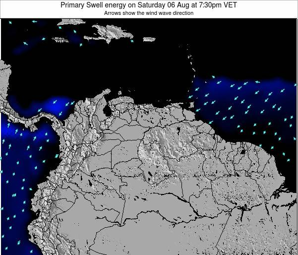 Venezuela Primary Swell energy on Tuesday 24 Apr at 1:30am VET map