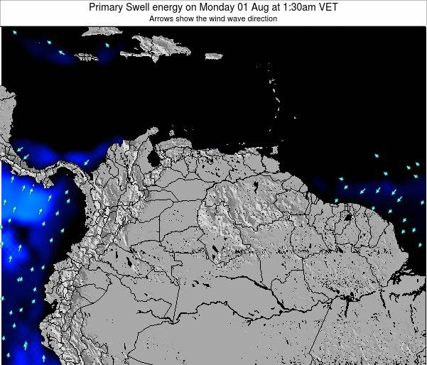 Venezuela Primary Swell energy on Saturday 25 Oct at 7:30pm VET