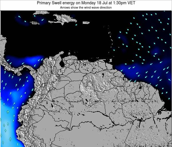 Venezuela Primary Swell energy on Thursday 24 Apr at 7:30pm VET