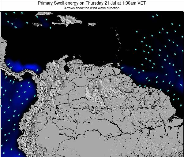 Venezuela Primary Swell energy on Thursday 24 Jul at 1:30pm VET