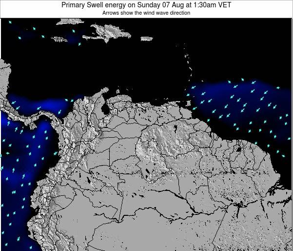 Venezuela Primary Swell energy on Saturday 14 Dec at 1:30am VET