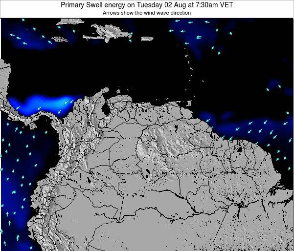 Venezuela Primary Swell energy on Saturday 10 Oct at 1:30am VET