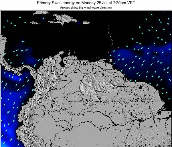 Venezuela Primary Swell energy on Sunday 09 Mar at 7:30am VET