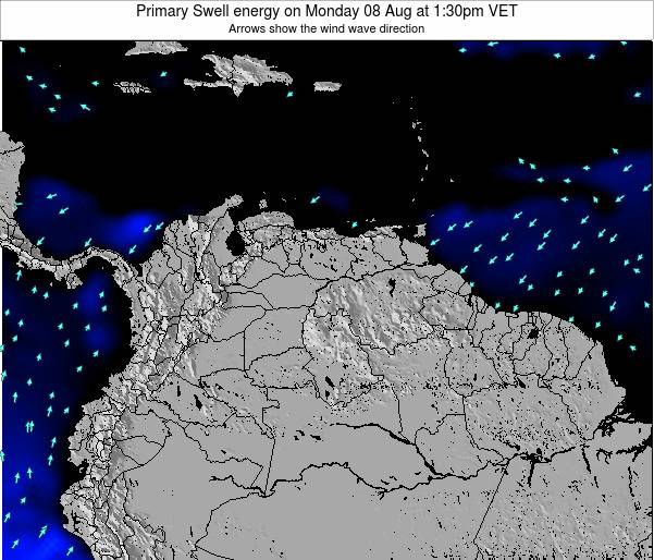 Venezuela Primary Swell energy on Saturday 26 Apr at 7:30am VET
