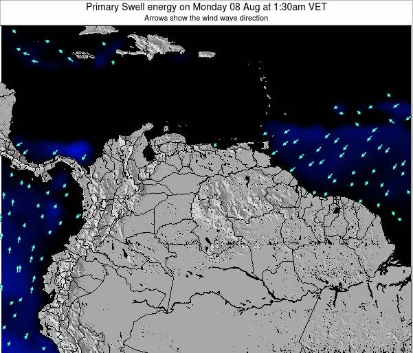 Venezuela Primary Swell energy on Sunday 27 Jul at 1:30am VET