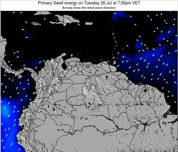 Venezuela Primary Swell energy on Friday 24 May at 7:30am VET