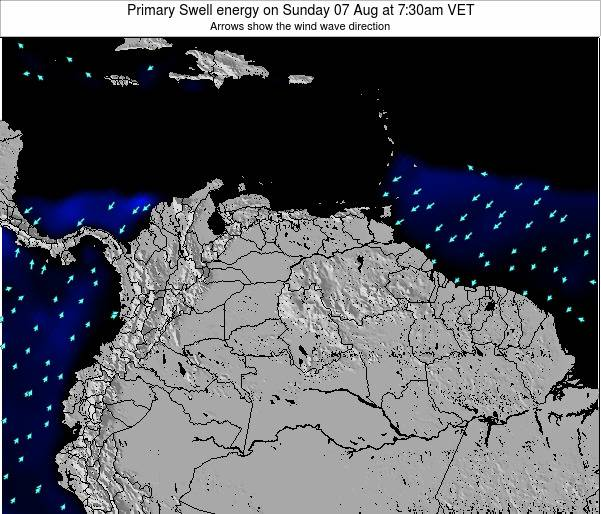 Venezuela Primary Swell energy on Thursday 23 May at 1:30am VET