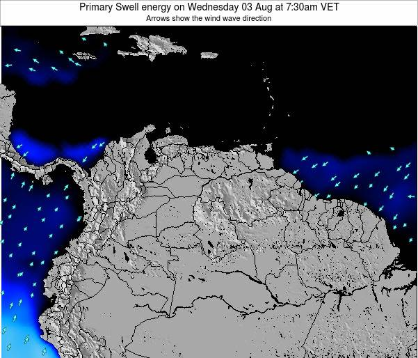 Venezuela Primary Swell energy on Thursday 24 Apr at 1:30pm VET