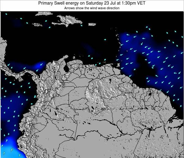 Venezuela Primary Swell energy on Sunday 09 Mar at 1:30am VET