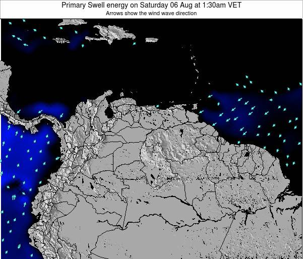 Venezuela Primary Swell energy on Friday 13 Dec at 1:30am VET