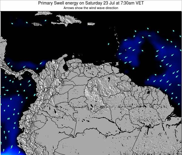 Venezuela Primary Swell energy on Tuesday 22 Jul at 1:30pm VET
