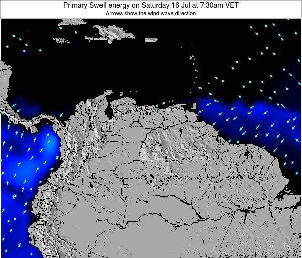 Venezuela Primary Swell energy on Wednesday 30 Jul at 7:30am VET