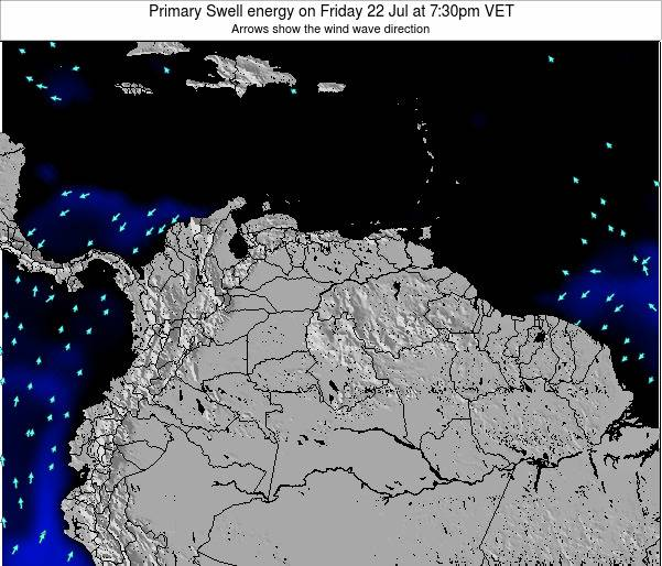 Venezuela Primary Swell energy on Wednesday 12 Mar at 7:30am VET