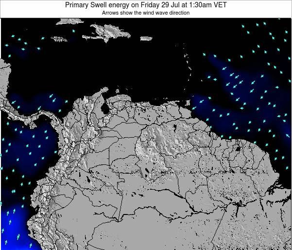 Venezuela Primary Swell energy on Saturday 25 Oct at 1:30am VET