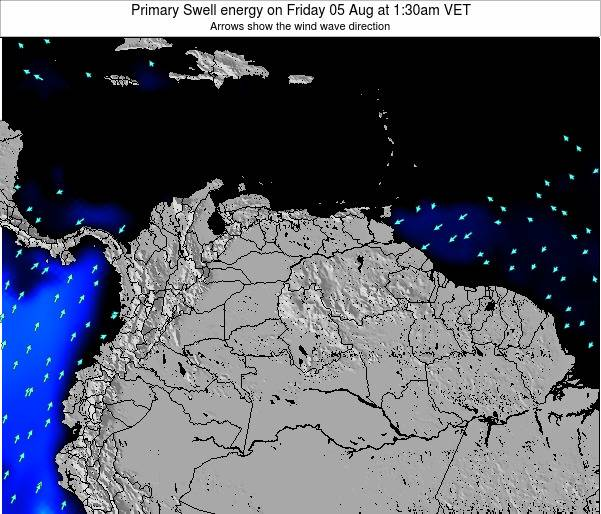 Venezuela Primary Swell energy on Monday 09 Dec at 1:30pm VET