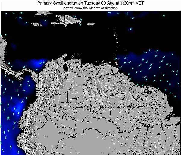 Venezuela Primary Swell energy on Monday 12 Oct at 1:30pm VET