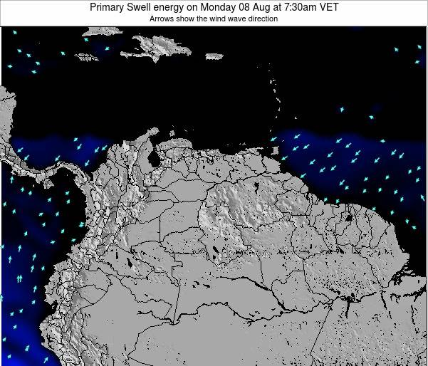 Venezuela Primary Swell energy on Monday 21 Apr at 7:30am VET