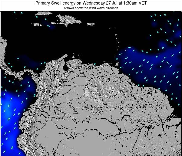 Venezuela Primary Swell energy on Sunday 15 Dec at 1:30pm VET