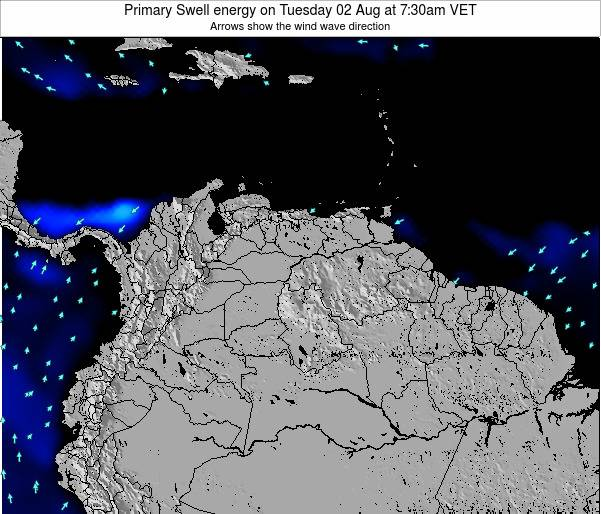 Venezuela Primary Swell energy on Saturday 26 Apr at 7:30pm VET