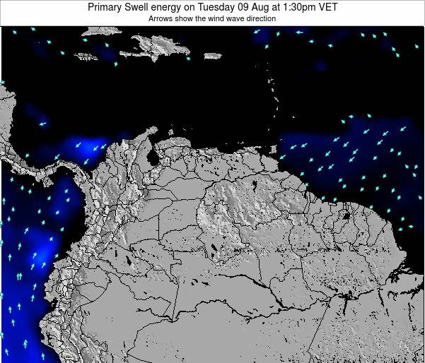 Venezuela Primary Swell energy on Thursday 12 Dec at 7:30am VET