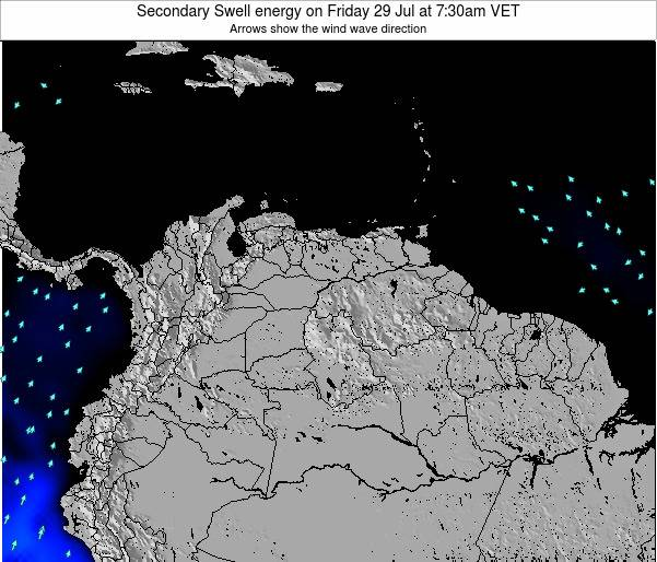 Venezuela Secondary Swell energy on Wednesday 29 May at 7:30am VET
