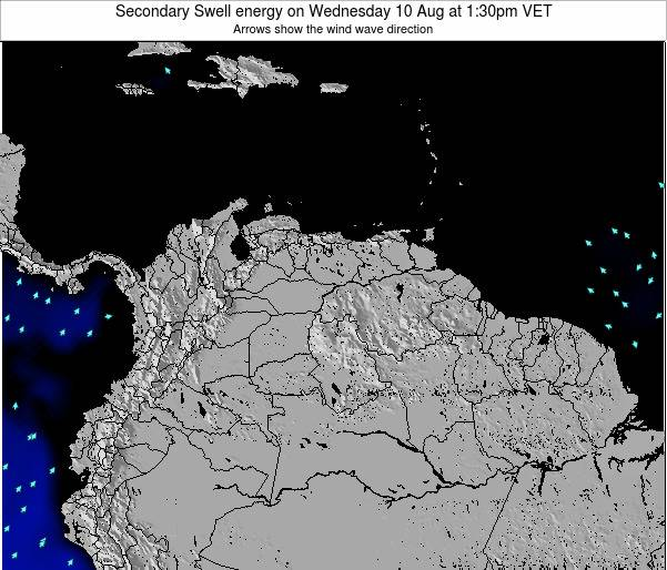 Trinidad and Tobago Secondary Swell energy on Monday 27 May at 1:30am VET