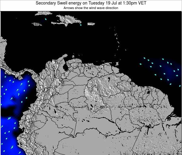 Venezuela Secondary Swell energy on Tuesday 18 Jun at 7:30pm VET