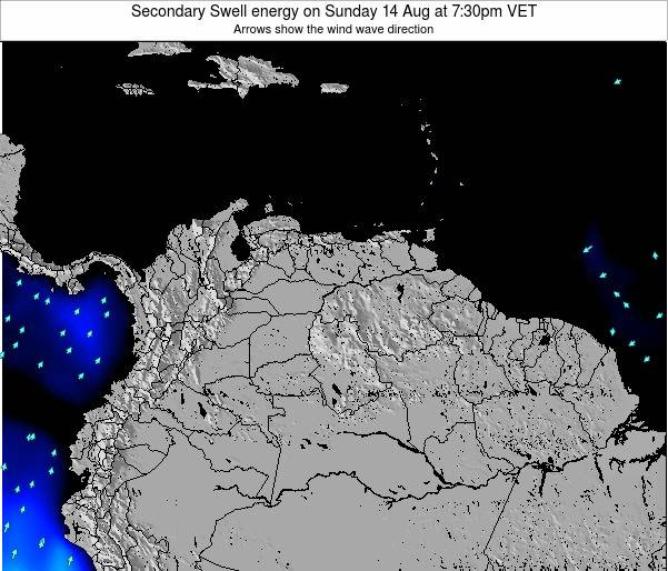 Venezuela Secondary Swell energy on Sunday 23 Jun at 7:30pm VET