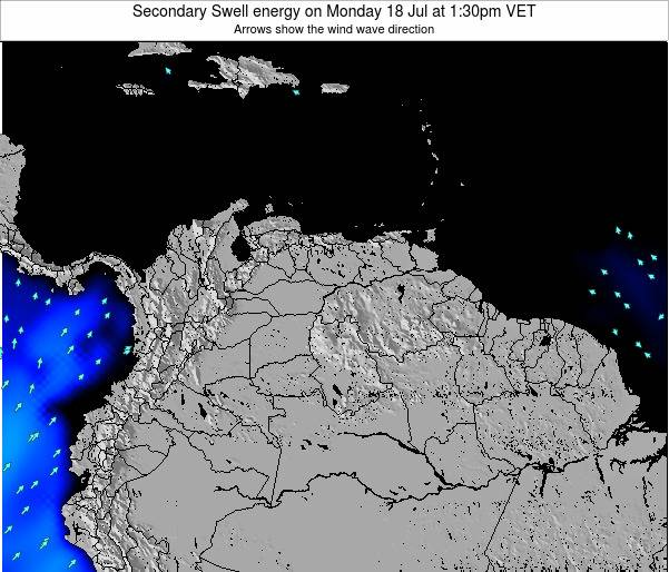 Trinidad and Tobago Secondary Swell energy on Friday 24 May at 7:30pm VET