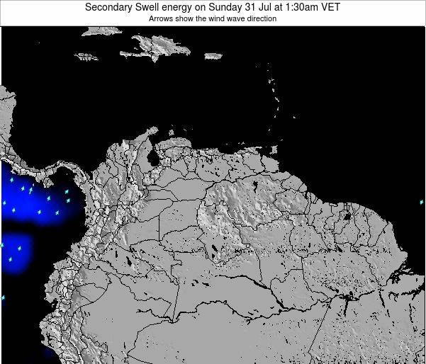 Trinidad and Tobago Secondary Swell energy on Friday 01 Aug at 7:30pm VET