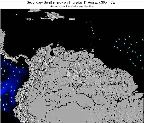 Venezuela Secondary Swell energy on Sunday 26 May at 1:30am VET