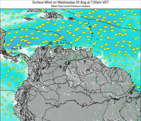 Trinidad and Tobago Surface Wind on Monday 27 May at 7:30am VET