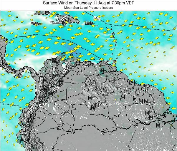 Trinidad and Tobago Surface Wind on Wednesday 29 May at 1:30am VET