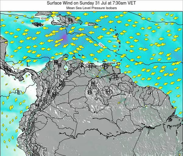Trinidad and Tobago Surface Wind on Wednesday 29 May at 7:30am VET