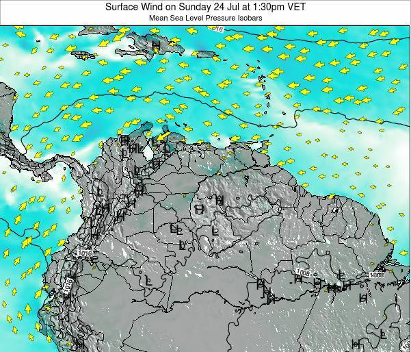 Trinidad and Tobago Surface Wind on Sunday 19 May at 7:30am VET