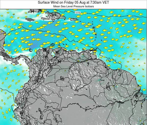 Trinidad and Tobago Surface Wind on Tuesday 21 May at 1:30pm VET