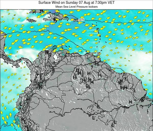 Trinidad and Tobago Surface Wind on Thursday 20 Jun at 1:30pm VET