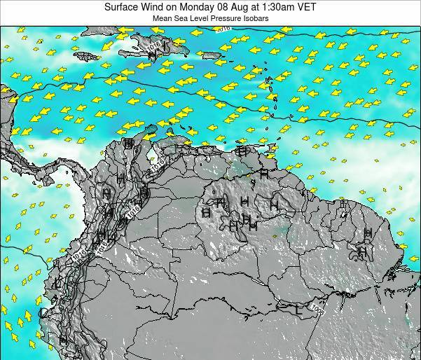 Trinidad and Tobago Surface Wind on Monday 27 May at 1:30am VET