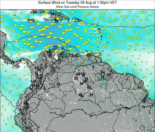Trinidad and Tobago Surface Wind on Sunday 26 May at 7:30pm VET