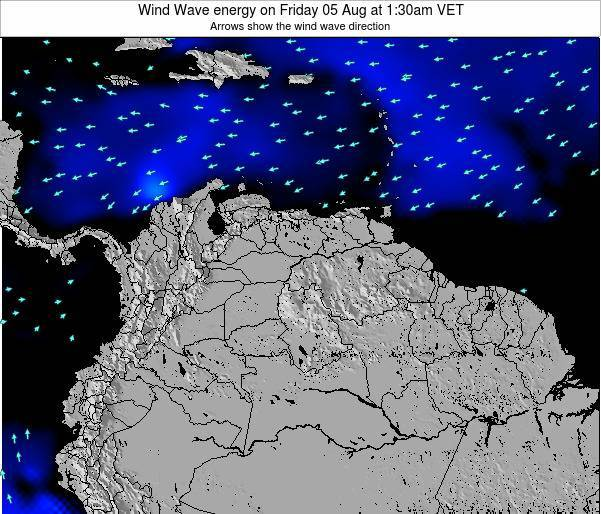 Netherlands Antilles Wind Wave energy on Tuesday 19 Jun at 8pm VET map