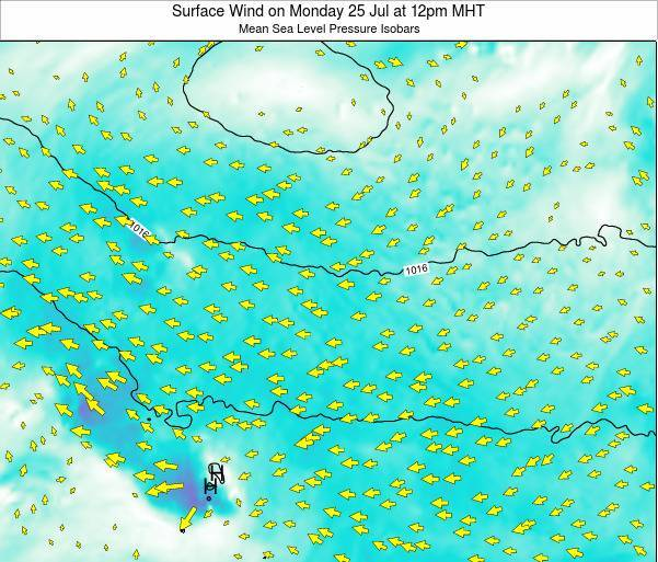 WakeIsland Surface Wind on Thursday 18 Apr at 6pm MHT map